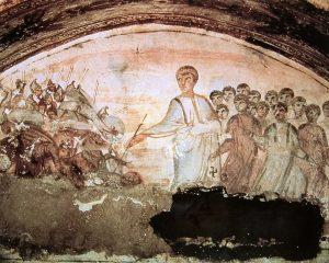 Durchzug durch das Schilfmeer, Neue Katakombe,Via Latina, Rom (c) Theologische Kurse
